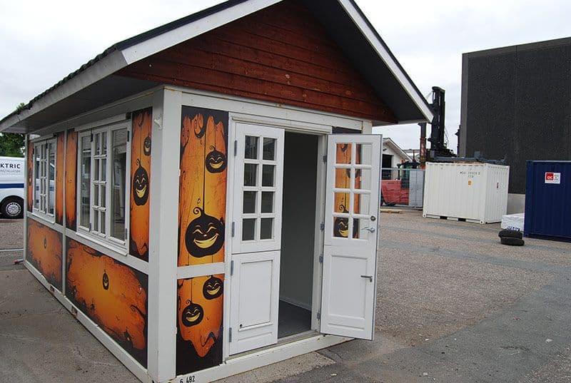 Butik - Salgs container, Halloween tema