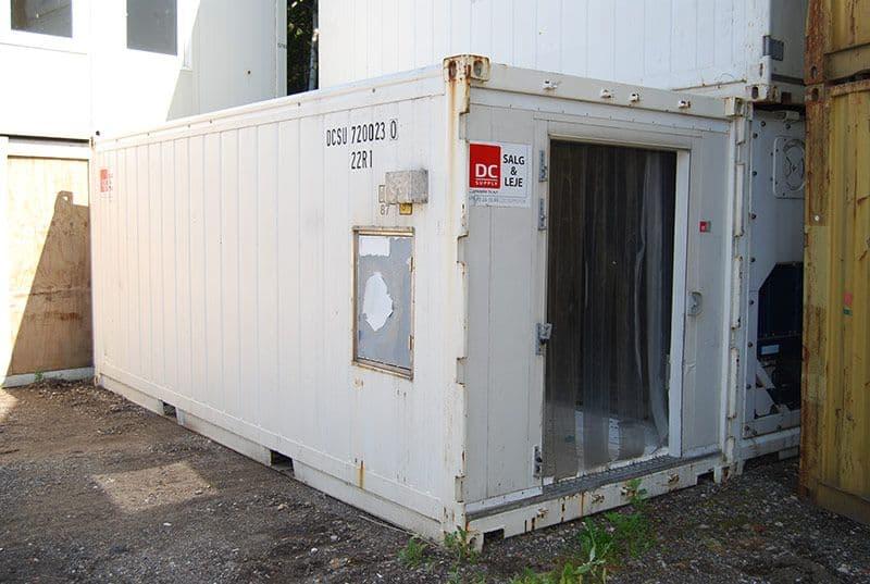 Reefer container 20 fod - Anlæg OK, kan leveres med ny dør